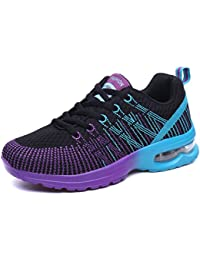 VECJUNIA Ladies Lace Up Lightweight Training Running Shoes Trainers For Womens