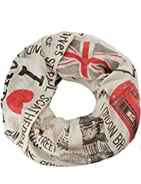 caripe Loop-Schal Städte-Print Paris London New York Berlin Schlauchschal Damen Herren Halstuch Mode-Accessoire Geschenk – sh2