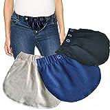 93deeeb0d Cinturón para el Vientre Combo Maternity Belly Band Pantalones elásticos  Ajustables Mujeres Embarazadas Solución para Embarazadas
