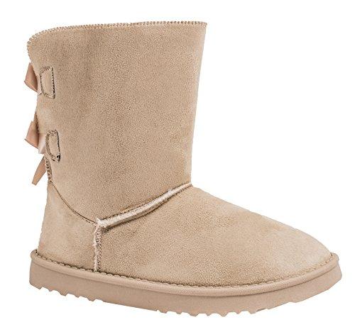Elara Winter Boots | Bequeme Damen Stiefel | Schlupfstiefel | Chunkyrayan S129-Beige-39 (Frauen-boot Beige)