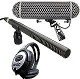 Rode NTG-2 Richtmikrofon + Blimp Windschutz + Keepdrum Kopfhörer