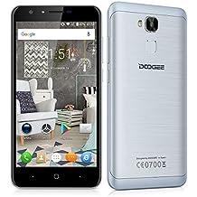 "Doogee Y6 - Smartphone libre Android 6.0 (4G LTE, Pantalla 5.5"", Quad Core, 16GB ROM, 2GB RAM, Camara 13MP, Dual SIM, OTG), Gris"
