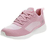 SKECHERS Bobs Squad, Women's Athletic & Outdoor Shoes, Pink (Pink/White), 39 EU
