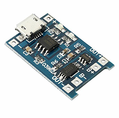Demarkt Lithium-Akku Batterie Charger 1 Stk. USB 18650 Ladegerät Schutz Modul 5V 1A - Entladen-modul