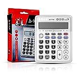 Calculadora Electrónica Multifuncional, Portátil de 12 dígitos de la escuela de pantalla LCD estudiantes niños calculadora Launchpad piano con reloj (Chino mandarín, plata) (AR-7778)