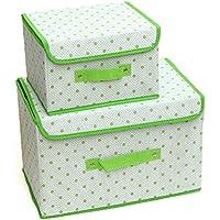 HAOJINFENG Caja de Almacenamiento Plegable para el hogar, Caja de Almacenamiento, Caja de Almacenamiento