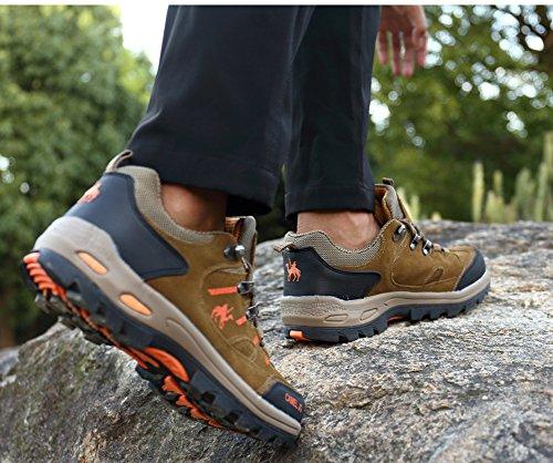 Gomnear Wandern & Trekking Stiefel Männer Niedrige Oberseite Wildleder Wanderschuhe Winter Draussen Klettern Sneakers Khaki