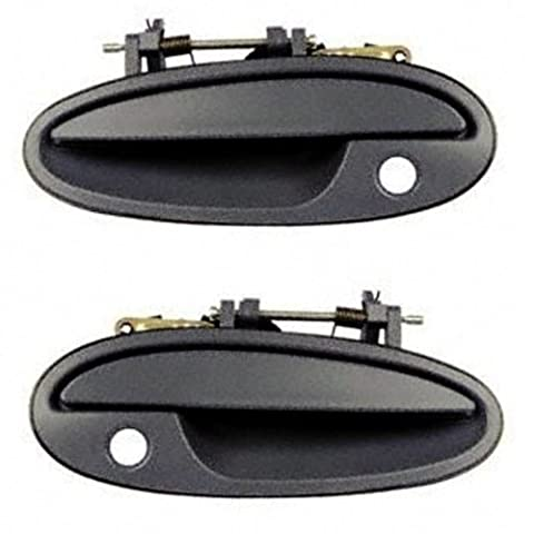 1997-2005 Buick Park Avenue Ave 1997-1999 Buick Riviera & Oldsmobile Olds Aurora Front Black Outside Outer Exterior Door Handle Pair Set Left Driver AND Right Passenger Side (1997 97 1998 98 1999 99 2000 00 2001 01 2002 02 2003 03 2004 04 2005 05) by Aftermarket Auto Parts