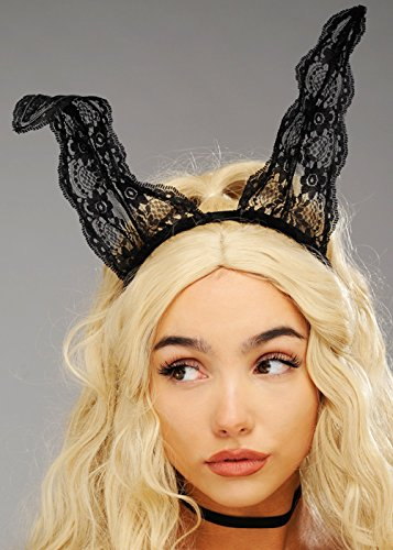 Magic Box Int. Deluxe Black Lace Bunny Hasenohren (Lace Black Bunny Ohren)