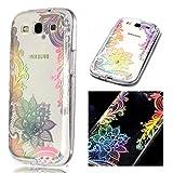 ZCRO Hülle für Samsung Galaxy S3, Handyhülle Case Schutzhülle Hülle Transparent für Samsung Galaxy S3, Weich Silikon TPU Durchsichtig Silikonhülle für Samsung Galaxy S3 (Blume)