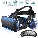 Honggu VR Shinecon VR Headset 3d Gafas realidad virtual Auriculares para VR Juegos & ~ 3D Movies Pack con mando a distancia