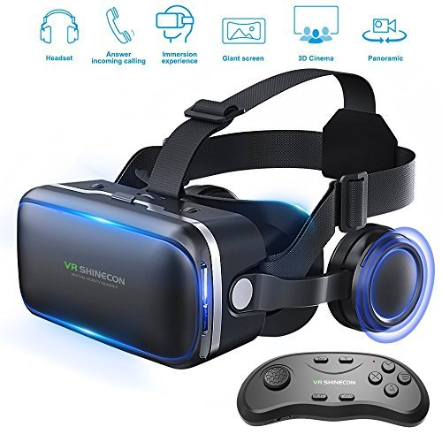 Honggu VR Shinecon VR Headset 3d Gafas realidad virtual Auriculares para VR...