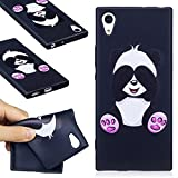 Sony Xperia XA1 Case, Sony Xperia XA1 Silicone TPU Transparent Cover, COZY HUT Premium Ultra Slim Thin Silicone Flexible Quality TPU Soft Pattern Design Cute Black Cover, Gel Plastic Protective Shock Absorption Proof Drop Defend Anti Scratch Shell for Sony Xperia XA1 - Cartoon panda