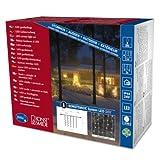 Konstsmide 4624-103 LED Hightech System Erweiterung/Lichtervorhang / für Außen (IP44) / 200 warm weiße Dioden/transparentes Kabel