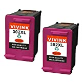vivink 2Pack 302x l de alto rendimiento Color Combo Pack–remanufacturados cartucho de tinta