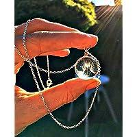 Sterling Silber kette Löwenzahn Samen Halskette Pusteblumen-Anhänger mit GESCHENKBOX SterlingSilber Kette Brauthalskette für Frauen Valentinsgrußgeschenk