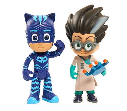 Giochi Preziosi - Super Pigiamini Pj Masks Coppia Personaggi, Gattoboy e Romeo