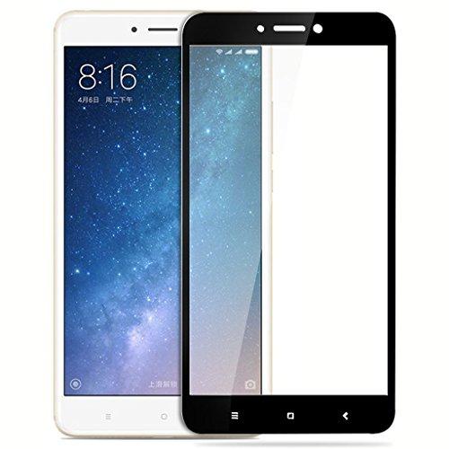 QAWACHH Full Screen Tempered Glass for Xiaomi Mi Max 2(Black)