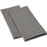 Paños de cocina Jazz de lino y algodón. Juego de 2. Negro. LinenMe 47 x 70 cm.