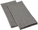 LinenMe, Jazz Geschirrtücher aus Leinen und Baumwolle in Schwarz, 2-teiliges Set 00498