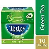Tetley Green Tea, Regular, 10 Tea Bags