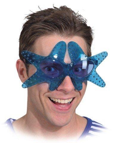 Brille Seestern, Farbe:blau (Seestern Kostüm)