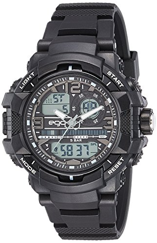 Ego by Maxima Analog-Digital Black Dial Men's Watch-E-43762PPAN