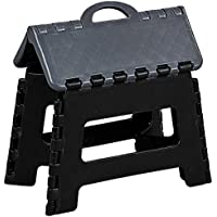 Kesper 70527 - Taburete plegable (plástico, 35 x 27 x 22cm), color negro