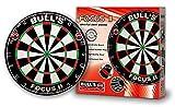 BULL'S Focus II Bristle Dartboard / Dartscheibe, inkl. BULL's Wandhalterung