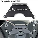 QIDIAN Soporte para teléfono frontal de motocicleta para teléfono móvil, GPS, soporte de placa de navegación para Yamaha XMAX300 XMAX 125 250 400 2017 2018