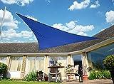 """Primrose - Tenda a vela triangolare """"Kookaburra"""", in tessuto impermeabile, lato di 3 m, colore: Blu"""
