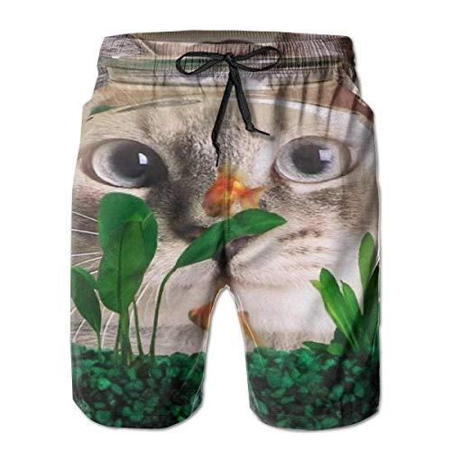 Man Beachwear Swimtrunks Cat Fish Quick Dry Exercise Beach Summer with Pockets M 4t Jeans