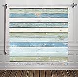 Hua, fondale per studio fotografico, design legno blu, in seta, 60 x 60 cm, sfondo per fotografia, D-8299
