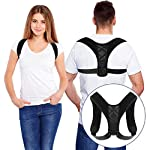 Bestmaple 2019 Back Shoulder Posture Correction Adjustable Adult Sports Safety Back Support Corset Spine Support Belt...