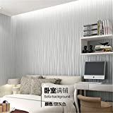 Jedfild 10 m mit Vlies Tapete Schlafzimmer Einfache Streifen Voll geflieste Wohnzimmer 3D-Hintergrund TV-Wand Tapete Nicht Selbstklebende 0,53 * 10 Meter Dick, Upgrade von Silber Grau