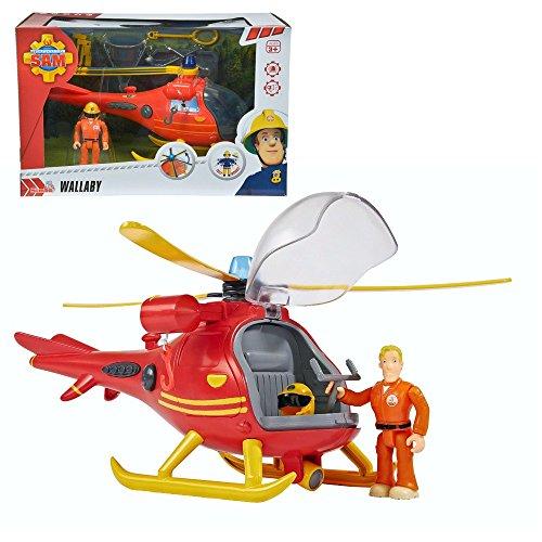feuerwehrmann sam tom thomas Feuerwehrmann Sam - Bergwacht Hubschrauber Helikopter mit Tom Licht & Sound