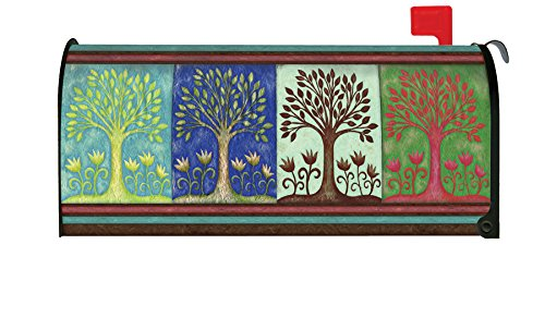 Toland Home Garden Seasons Spring Summer Fall Winter Tree magnetisch Mailbox Cover (Dekorative Box-spring Cover)