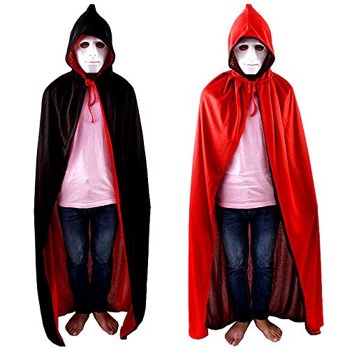 Magier Kostüm Männliche - WSJYP Cos Maskerade Kostüm Mantel Magier Mantel Vampir Zauberer Mantel Mantel Für Halloween,Doublelayer-120cm