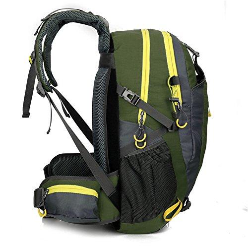 YUMOMO 40L imprägniern Rucksack-Wandern des Trekking-kampierenden Spielraum-im Freiensport-Rucksack-Satzes Bergsteigen-kletternder Rucksack-Beutel (Armeegrün) Armeegrün