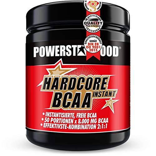 Perfekt auflösendes Hardcore BCAA Instant - Premium Pre- und In-Workout Pulver mit der absolut stärksten Hardcore Dosierung - antikatabol und ein Muß bei professionellem Muskelaufbau – Made in Germany (Ice Tea)