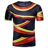 2018 WC Weltmeisterschaft World Cup T-Shirt Fußball-Fans-T-Shirt Herren Sommer Kurzarm Tee Shirt Bluse Fußball Deutschland Germany Männer Sport Fussball-Shirt (B, 2XL)