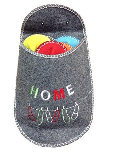 AVANTI TRENDSTORE - Guest - Set Pantofole, 5 Paia in Diversi Colori e Misure, la Borsa è Disponibile in Diversi Colori (Grigio)