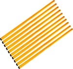 Set di 10 aste, 80 cm, � 25 mm, giallo