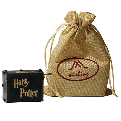 wishing Caja Musical Harry Potter,Tema de Hedwig clásico Caja de música Mano Caja de música de Madera artesanía de Madera Creativa Mejores Regalos con Bolsa de Regalo