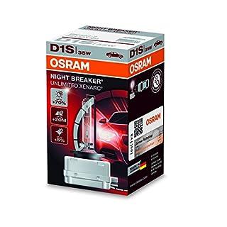 Osram Xenarc Night Breaker Unlimited D1S HID Xenon-Brenner, Entladungslampe, 66140XNB, Faltschachtel (1 Stück)