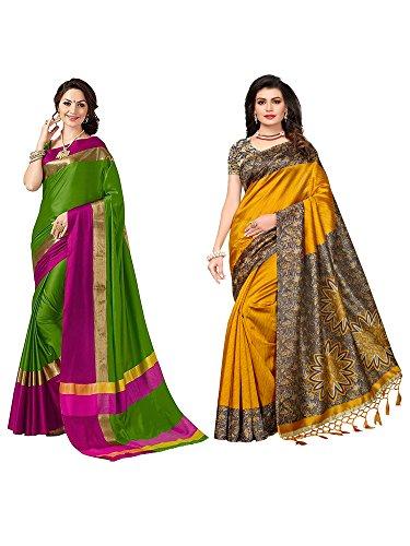 Mrinalika Fashion Art Silk saree combo offers for women