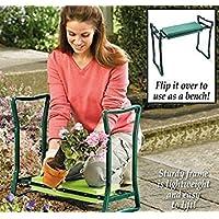 Taburete y reclinatorio portátil para jardín Olayer, de asiento plegable y acolchado