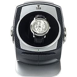 CARBON DOME Automatic Single Watch Winder Automatische Uhrenbeweger - 4 Timer Modi Premium-Silent-Motor Carbon Style Finish KA083-CB
