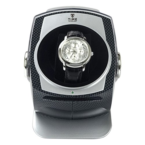 CARBON DOME Automatic Single Watch Winder Automatische Uhrenbeweger - 4 Timer Modi Premium-Silent-Motor Carbon Style Finish KA083-CB -