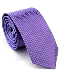 SODIAL(R) Wedding Classic Standard Extra Long Tie Purple